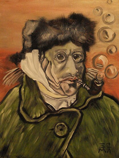 Van Gogh Fish by Ellen Marcus