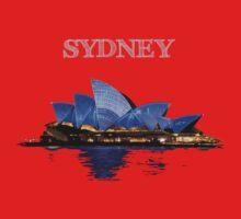 Sydney Opera House - White ink One Piece - Short Sleeve