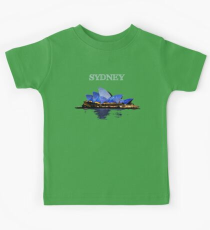 Sydney Opera House - White ink Kids Tee