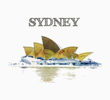 Sydney Opera House - Black ink Kids Clothes
