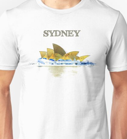 Sydney Opera House - Black ink Unisex T-Shirt