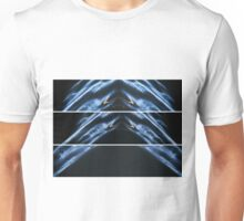 Lightpainting Triptych Horizontal Print Photograph 3 Unisex T-Shirt