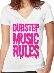 Dubstep Music Rules Women's Fitted V-Neck T-Shirt