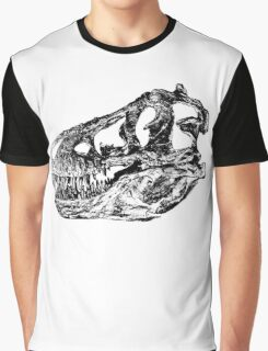 Dinosaur: T-Rex - Black Ink Graphic T-Shirt