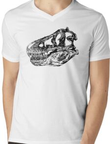 Dinosaur: T-Rex - Black Ink Mens V-Neck T-Shirt