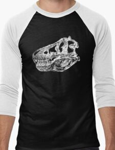 Dinosaur: T-Rex - White Ink Men's Baseball ¾ T-Shirt