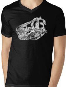 Dinosaur: T-Rex - White Ink Mens V-Neck T-Shirt
