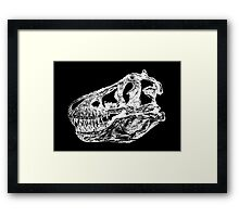 Dinosaur: T-Rex - White Ink Framed Print