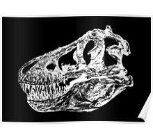 Dinosaur: T-Rex - White Ink Poster