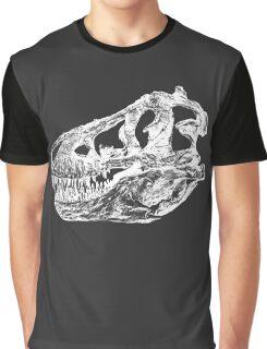 Dinosaur: T-Rex - White Ink Graphic T-Shirt