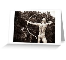 Greek archer god  Greeting Card