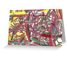 Abstract of a Hawaiian Shirt Pattern Greeting Card