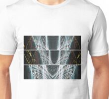 Lightpainting Triptych Horizontal Print Photograph 5 Unisex T-Shirt