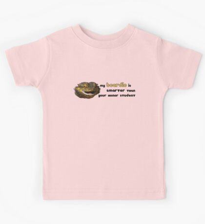 My Beardie is Smarter Than Your Honor Student Kids Tee