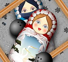 Matryoshka Bowling Accident by Yanko Tsvetkov