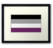 Asexual Flag Framed Print