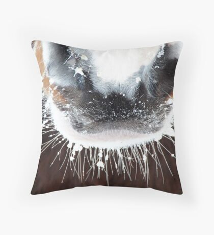 An irresistible frosty muzzle Throw Pillow