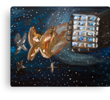 Moths... in Space Canvas Print