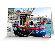 the little fishing boat Greeting Card