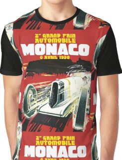 Monaco Motor Racing Vintage Travel Advertisement Graphic T-Shirt
