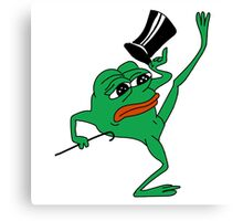 tophat pepe Canvas Print