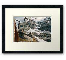 The entrance to Mount Eiger seen from train at Kleine Scheidegg 19570922 0024 Framed Print