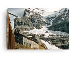 The entrance to Mount Eiger seen from train at Kleine Scheidegg 1957 09220024 Canvas Print