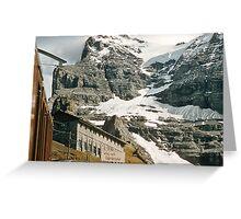 The entrance to Mount Eiger seen from train at Kleine Scheidegg 19570922 0024 Greeting Card