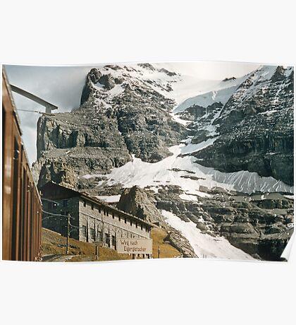 The entrance to Mount Eiger seen from train at Kleine Scheidegg 19570922 0024 Poster