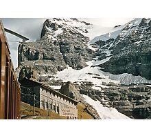 The entrance to Mount Eiger seen from train at Kleine Scheidegg 19570922 0024 Photographic Print