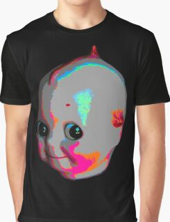 Tripped Out Doll Head Graphic T-Shirt