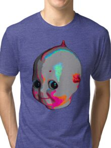 Tripped Out Doll Head Tri-blend T-Shirt