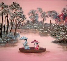 Pink Skies-Pink Rivers by Noelia Garcia