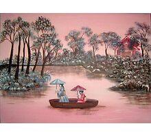 Pink Skies-Pink Rivers Photographic Print
