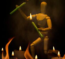 Fire Dancing by Johanne Brunet