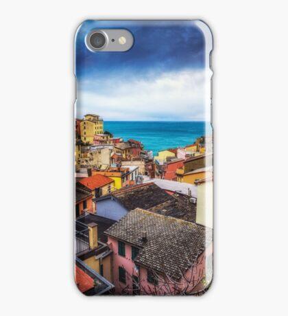 Storm over Riomaggiore iPhone Case/Skin