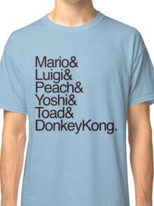 Mario + Co. List Shirt (Black Text) Classic T-Shirt