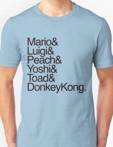 Mario + Co. List Shirt (Black Text) T-Shirt