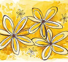 Sunny yellow daisies by Maree Clarkson