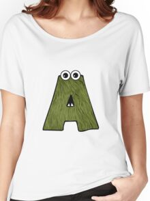Monster Letter A Women's Relaxed Fit T-Shirt