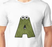 Monster Letter A Unisex T-Shirt