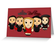 Red Song - Black Box Films: BOXIES Greeting Card