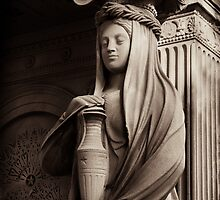 neo-classical caryatid with urn by debrapeck