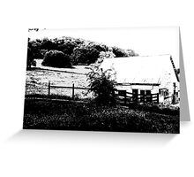 OLD MILKING BARN Greeting Card