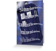 The Bluest Blue Ever Greeting Card