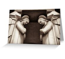 angel temple guardians Greeting Card