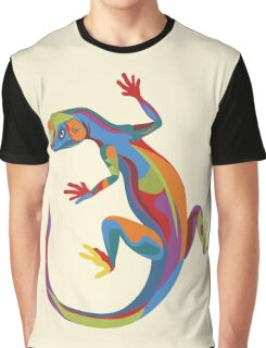 Painted Lizard Graphic T-Shirt