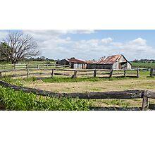 farm fences Photographic Print