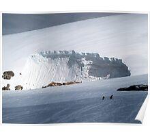 Snow drift , Antarctica Poster