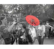 The Red Parasol Photographic Print